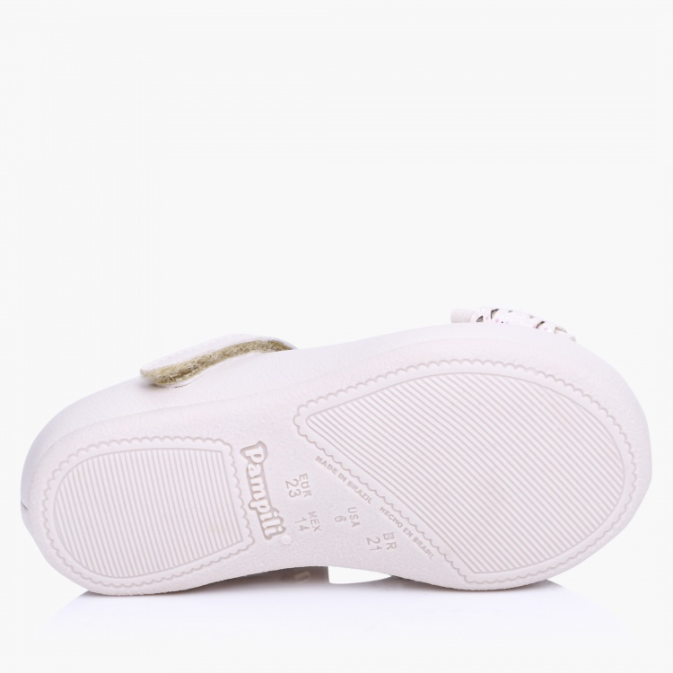 Pampili Slip-On Shoes with Hook and Loop Closure