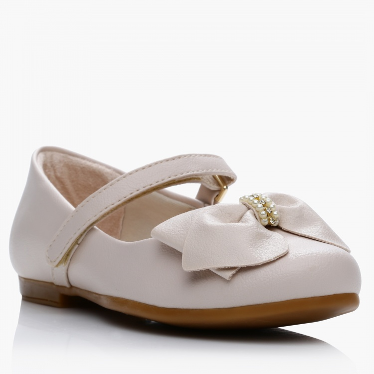 Pampili Bow Applique Mary Jane Shoes