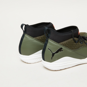 PUMA Textured Running Shoes with Brand Prints