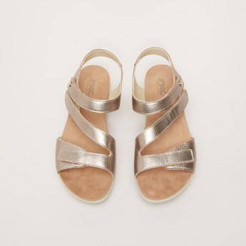 IMAC Mid-Heel Sandals with Textured Straps