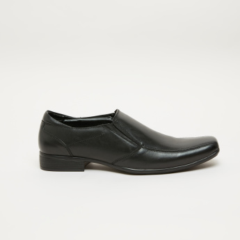Stitch Detail Slip-On Loafers with Elasticised Gussets