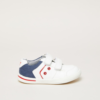 Eyelet Detail Sneakers with Hook and Loop Closure