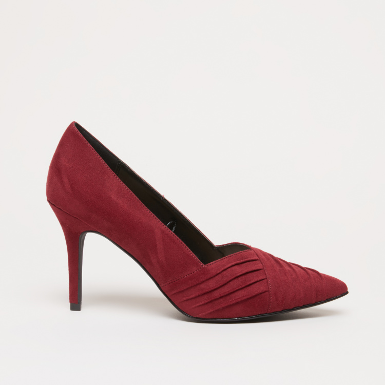 Pleat Detail Slip-On Pumps
