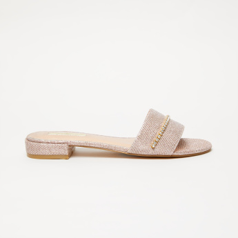 Celeste Textured Slides with Stud Detail