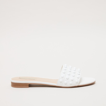 Stud Detail Slip-On Sandals