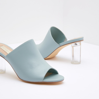 Peep Toe Sandals with Slip-on Closure