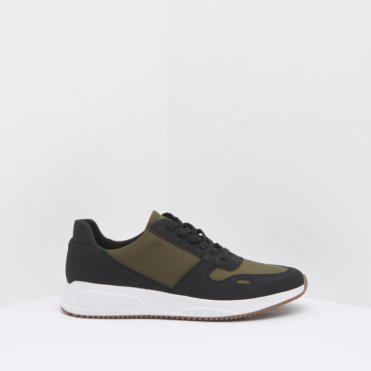 Lee Cooper Panelled Lace-Up Sneakers