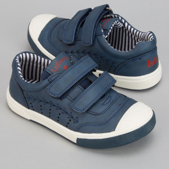 Lee Cooper Stitch Detail Shoes with Hook and Loop Closure