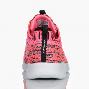 Skechers Slip-On Running Shoes with Lace Detail