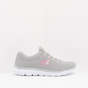 Skechers Mesh Walking Shoes with Lace-Up Closure