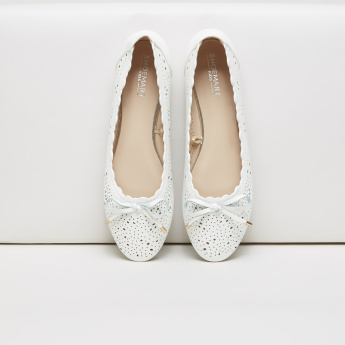 Cutwork Ballerina Shoes with Bow Detail