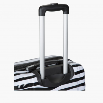 Elle Printed Trolley Travel Bag with Zip Closure and Four Wheels