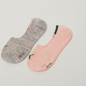 PUMA Assorted No Show Socks - Set of 2