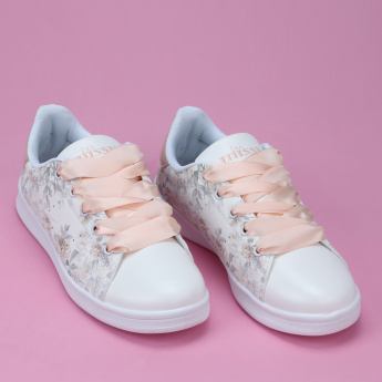 Little Missy Printed Sneakers with Lace Up Closure