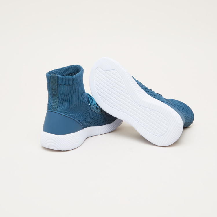 Textured Slip-On High Top Shoes