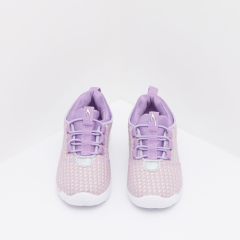 Textured Sneakers with Elasticated Laces
