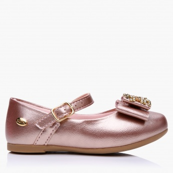 Klin Embellished Merry Jane Shoes with Buckle Closure