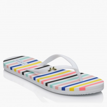 Missy Striped Thong Slippers