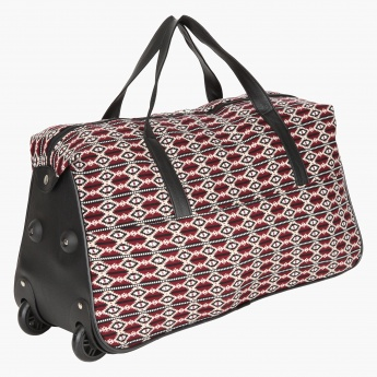 Paprika Printed Duffle Trolley Bag