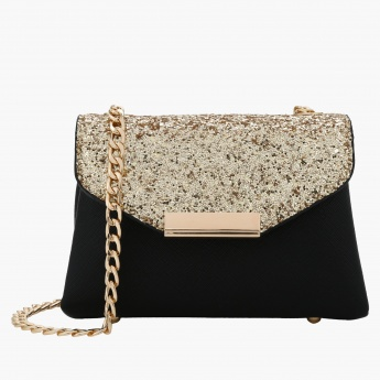 Celeste Sequin Hand Bag with Magnetic Snap Closure