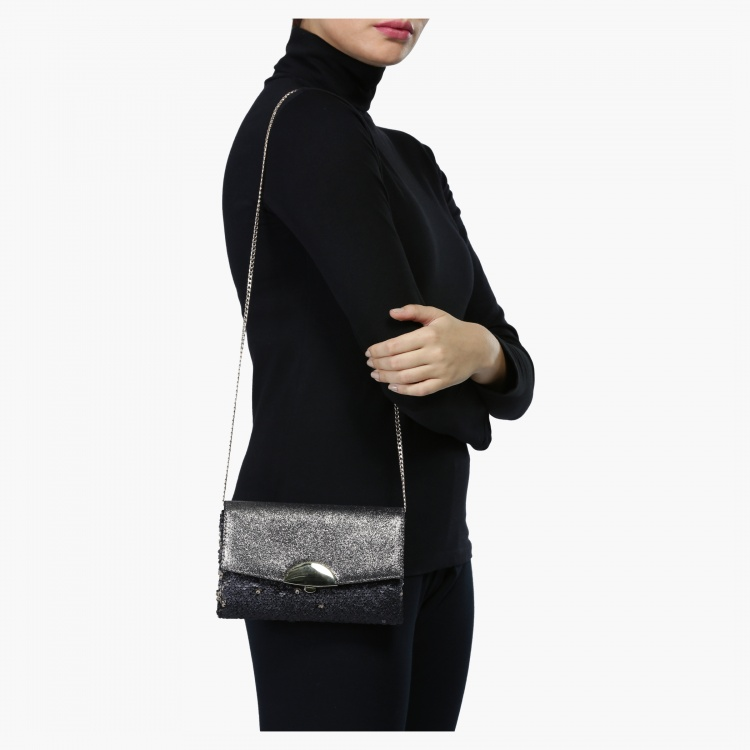 Celeste Crossbody Bag with Flap Closure