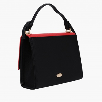 Elle Studded Handbag with Flap Closure