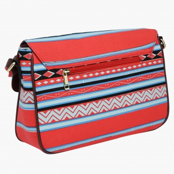 Missy Printed Crossbody Bag with Buckle Closure