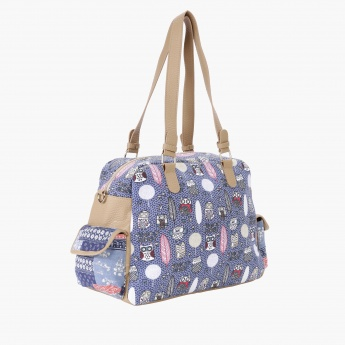 Paprika Printed Duffle Bag with Adjustable Sling