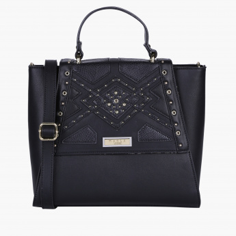 Marla London Satchel Bag with Magnetic Snap Closure