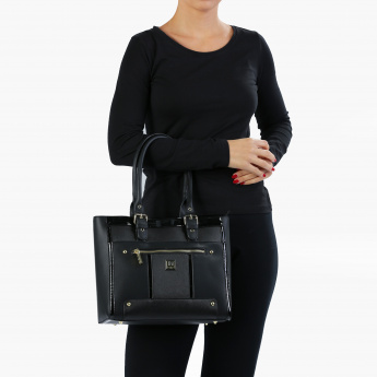 Marla London Shoulder Bag with Zip Closure