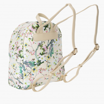 Missy Floral Printed Backpack with Zip Closure