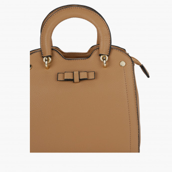 Missy Textured Handbag with Zip Closure