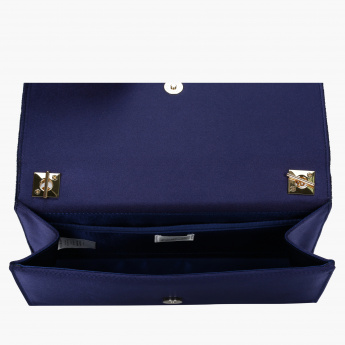 Celeste Clutch with Magnetic Snap Closure