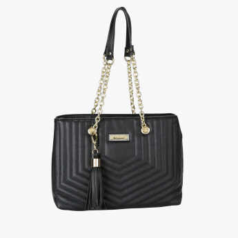 Marla London Hand Bag with Zip Closure and Tassels