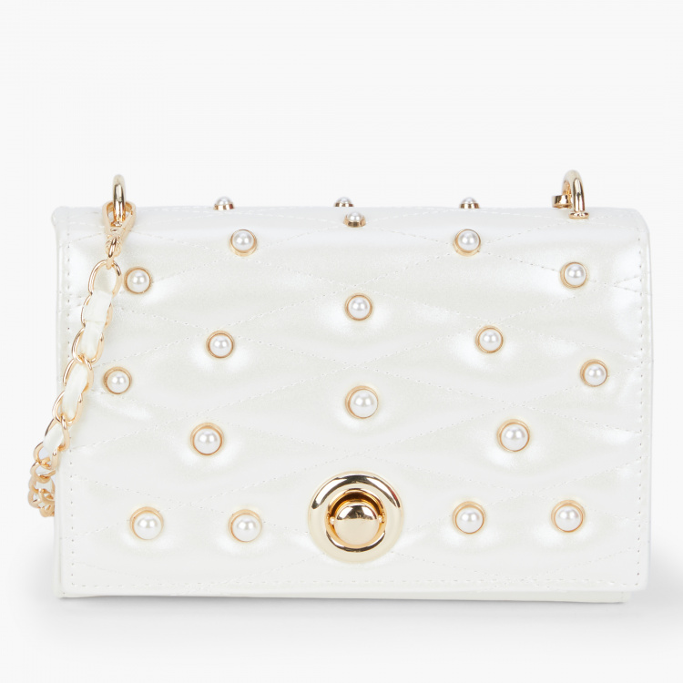 Celeste Embellished Sling Bag with Flap