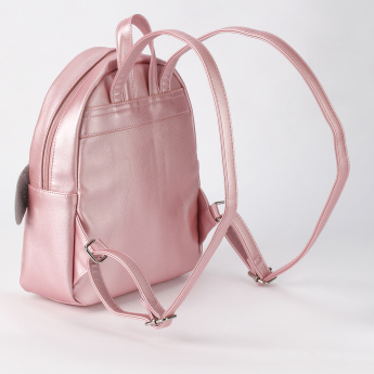 Little Missy Backpack with Zip Closure and Applique Detail