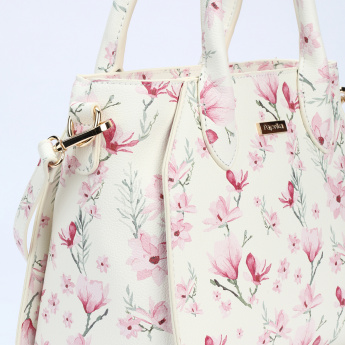 Paprika Printed Hand Bag with Zip Closure