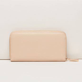STEVE MADDEN Textured Wallet with Zip Closure