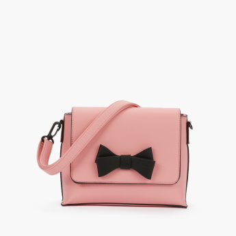 Missy Bow Detail Satchel Bag with Magnetic Snap Closure