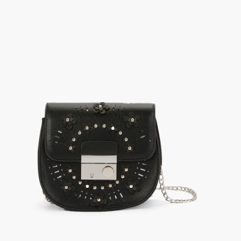 Missy Studded Satchel Bag with Adjustable Strap
