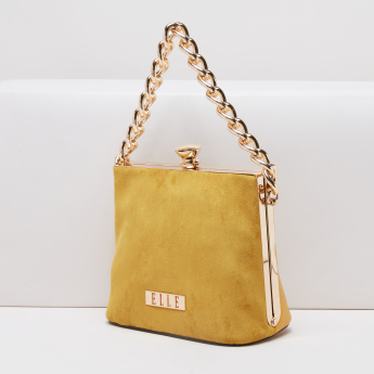 Elle Chain Detail Crossbody Bag with Metallic Lock