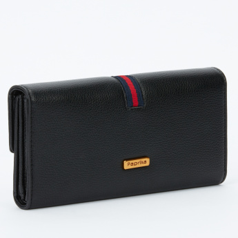 Paprika Tri-Fold Wallet with Magnetic Snap Closure