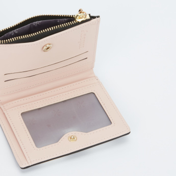 Missy Bi-Fold Wallet with Magnetic Snap Closure and Applique Detail