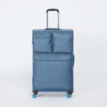 Duchini Soft Case Trolley Bag with Zip Closure