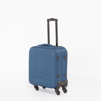 Duchini Textured Trolley Bag with Zip Closure