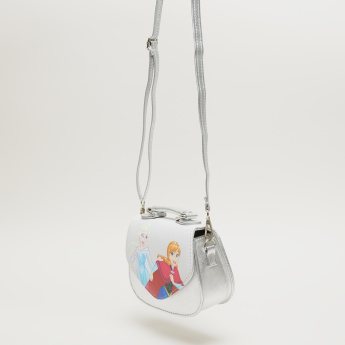 Frozen Printed Satchel Bag with Magnetic Snap Closure