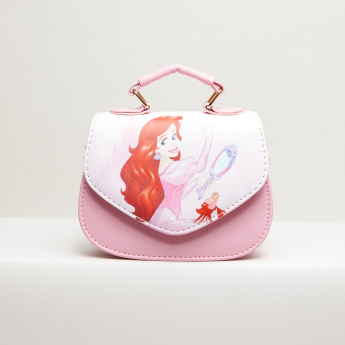 The Little Mermaid Printed Satchel Bag with Magnetic Snap Closure