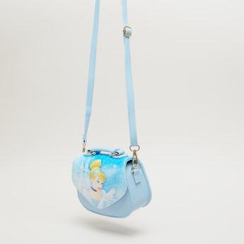 Cinderella Printed Satchel Bag with Magnetic Snap Closure
