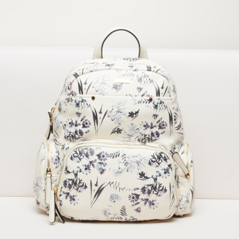 Paprika Printed Backpack with Zip Closure and Adjustable Straps
