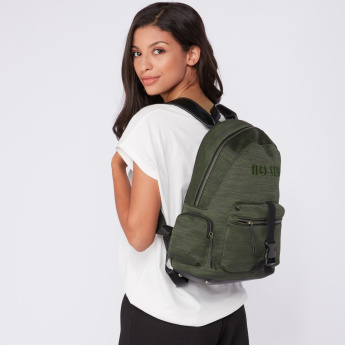 Lee Cooper Embroidered Backpack with Zip Closure